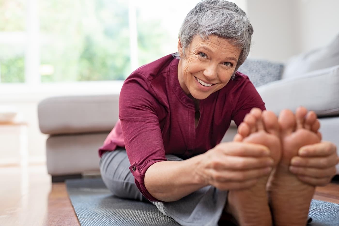 Les maux de pieds chez les seniors